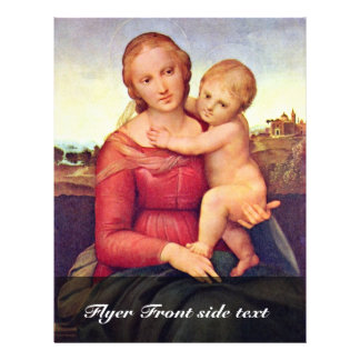 The Small Cowper Madonna By Raffael Full Color Flyer