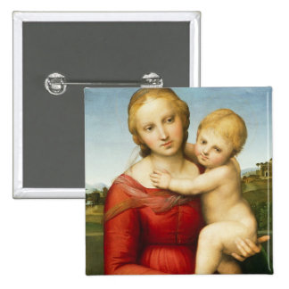 The Small Cowper Madonna, c.1505 (oil on panel) 15 Cm Square Badge