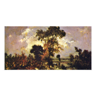 The Small Fishing By Rousseau Théodore ( Customized Photo Card