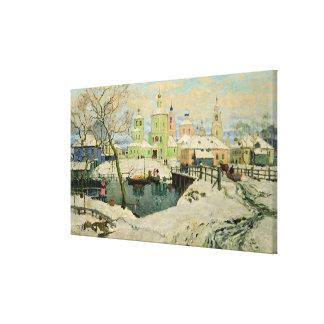 The small village Torzhok, 1917 Canvas Print