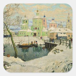 The small village Torzhok, 1917 Square Sticker