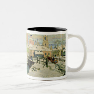 The small village Torzhok, 1917 Two-Tone Coffee Mug