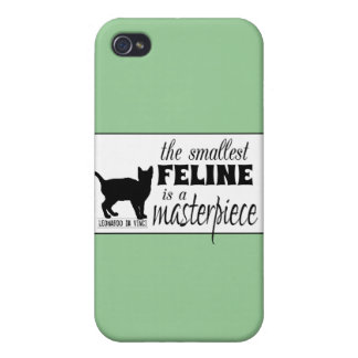 The Smallest Feline is a Masterpiece - all colours iPhone 4 Case
