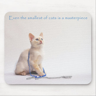 The Smallest of Cats Mouse Pad: Farrah Mouse Mat