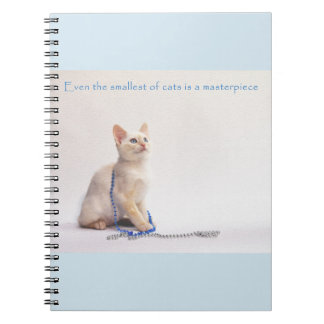 The Smallest of Cats Notebook: Farrah Spiral Notebook