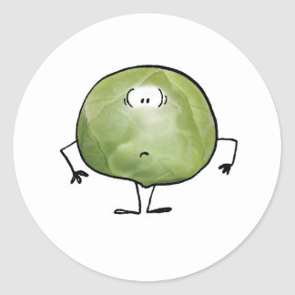 THE SMELLY SPROUT CLASSIC ROUND STICKER