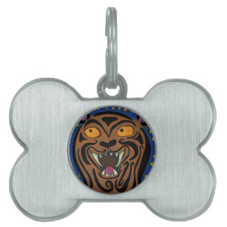 The Smile of the Tiger Pet Tag