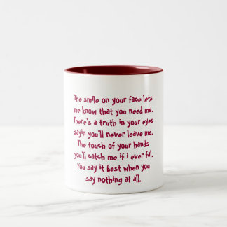 The smile on your face lets me know that you ne... Two-Tone mug