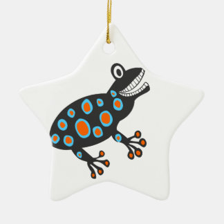 The Smileys funky colourful frog Christmas Ornament