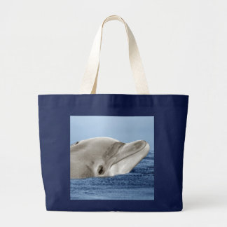 The smiling dolphin large tote bag