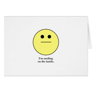 The Smily face for those who are not smiling. Greeting Card