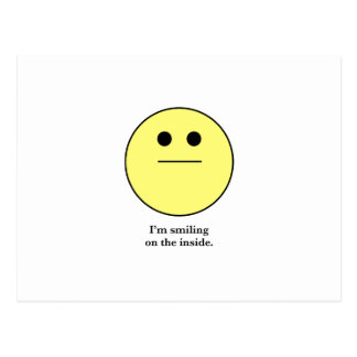 The Smily face for those who are not smiling. Postcard