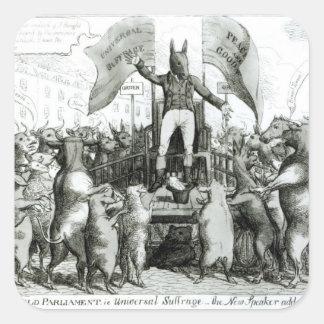 The Smithfield Parliament: Universal Suffrage Square Sticker