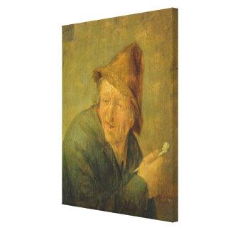 The Smoker, 1640 Canvas Print