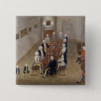 The smoking council of Frederick William I 15 Cm Square Badge