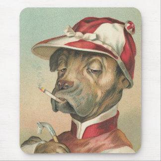 """The Smoking Jockey"" Vintage Dog Mouse Pad"