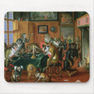 The Smoking Room with Monkeys Mouse Pad