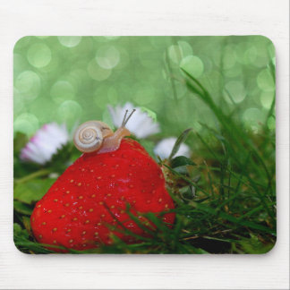 The Snail and The Strawberry Mouse Pad