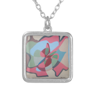 The snail which goes silver plated necklace