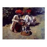 The Snake Charmers, Bombay by Edwin Lord Weeks Post Cards