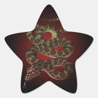 The snake (R) Star Sticker