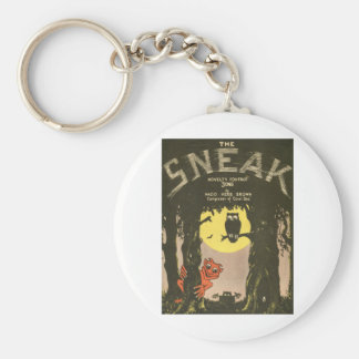 The sneak basic round button key ring