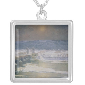 The Snow in the Auvergne, 1886 Silver Plated Necklace