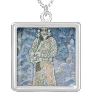 The Snow Maiden, a sketch for the Opera Silver Plated Necklace
