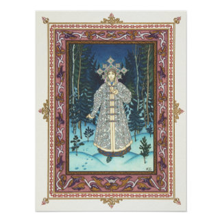 The Snow Maiden by Boris Zvorykin Poster