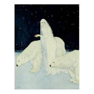 The Snow Maiden Gathering Broken Hearts Postcard