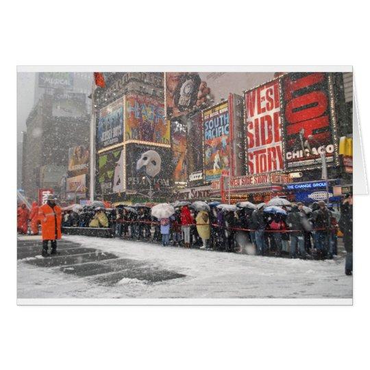 The Snow Must Go On Card