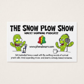The Snow Plow Show Business Cards