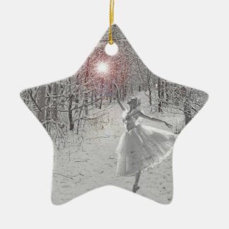 The Snow Queen Ceramic Star Decoration