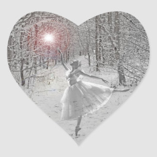 The Snow Queen Heart Sticker
