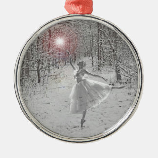 The Snow Queen Silver-Colored Round Decoration