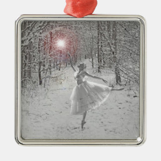 The Snow Queen Silver-Colored Square Decoration