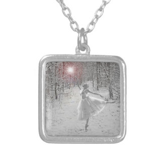 The Snow Queen Square Pendant Necklace