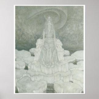 The Snow Queen Vintage Fantasy Art Print