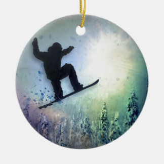 The Snowboarder: Air Round Ceramic Decoration