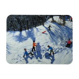 The Snowman 2 Rectangular Photo Magnet