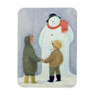 The Snowman Rectangular Photo Magnet