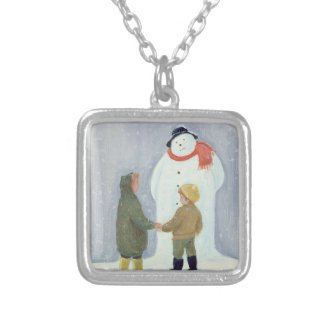The Snowman Silver Plated Necklace