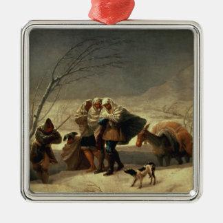 The Snowstorm, 1786-87 Silver-Colored Square Decoration