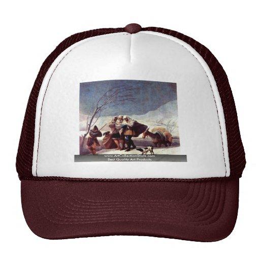 The Snowstorm (Winter).,  By Francisco De Goya Trucker Hats