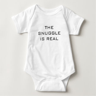 THE SNUGGLE IS REAL Baby Jersey Bodysuit