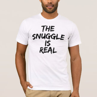 The Snuggle is Real Men's American Apparel Tee