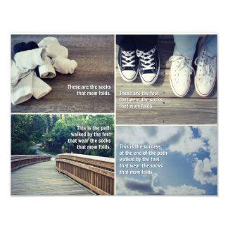 The Socks That Mom Folds-Poster Art Photo