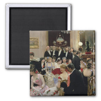 The Soiree, c.1880 Square Magnet