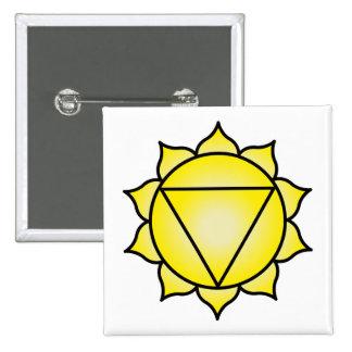 The Solar Plexus Chakra 15 Cm Square Badge