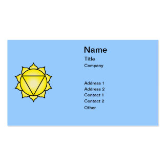 The Solar Plexus Chakra Pack Of Standard Business Cards